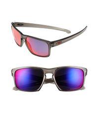 Oakley - Gray 'silver' 57mm Polarized Sunglasses for Men - Lyst