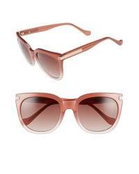 Ivanka Trump Red 56mm Retro Sunglasses - Blush