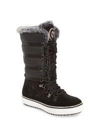 Santana Canada | Black 'mackenzie' Faux Fur Waterproof Boot | Lyst