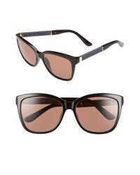 Jimmy Choo | Black 'cora' 56mm Retro Sunglasses | Lyst