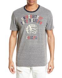 True Religion - Gray 'university Of True Religion' Crewneck T-shirt for Men - Lyst