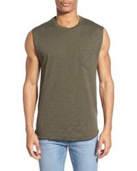 Imperial Motion - Green 'garth' Muscle Pocket Tank for Men - Lyst