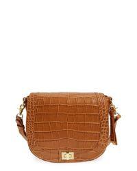 Brahmin Brown 'sonny Savannah' Embossed Crossbody Bag