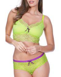 Freya | Green 'fancies' Lace Trim Bralette | Lyst