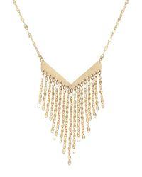 Lana Jewelry | Metallic Fringe Pendant Necklace | Lyst