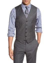 J.Crew | Gray Ludlow Trim Fit Solid Wool Vest for Men | Lyst