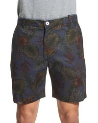 Descendant Of Thieves   Gray Floral Print Reversible Woven Shorts for Men   Lyst