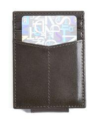 Johnston & Murphy | Black Leather Money Clip Card Case for Men | Lyst