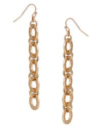 Trina Turk - Metallic Linear Link Earrings - Lyst