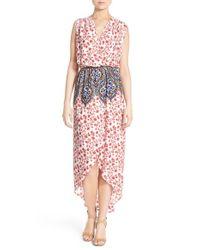 Fraiche By J | White Print Wrap Front Maxi Dress | Lyst