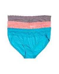 Natori | Blue 'bliss Perfection' Bikini Briefs | Lyst