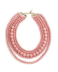 BaubleBar | Pink 'globe' Multistrand Beaded Necklace | Lyst