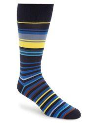 Paul Smith   Blue 'town Stripe' Socks for Men   Lyst