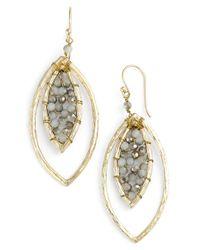 Panacea | Metallic Crystal Marquise Drop Earrings | Lyst