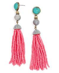 BaubleBar - Blue 'artemis' Beaded Tassel Drop Earrings - Lyst