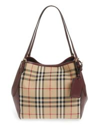 Burberry | Natural 'small Canterbury' Horseferry Check Shoulder Tote | Lyst