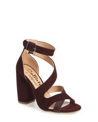 Callisto | Brown 'dinah' Crisscross Ankle Strap Sandal | Lyst