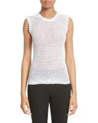 Dolce & Gabbana White Open Knit Tank