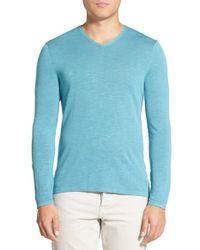 Zachary Prell | Blue 'donati' V-neck Sweater for Men | Lyst