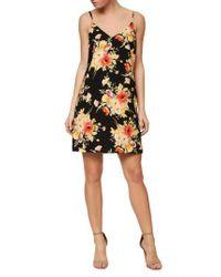 Sanctuary Floral Slip Dress In Black Lyst
