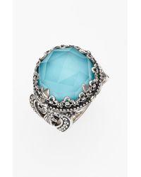 Konstantino   Metallic 'aegean' Round Stone Ring   Lyst