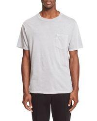 T By Alexander Wang - Gray Pocket T-shirt for Men - Lyst