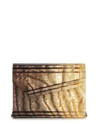Jimmy Choo - Candy Degrade Crinkle Metallic Clutch - Lyst
