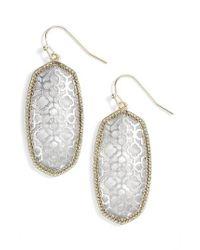 Kendra Scott | Metallic Elle Openwork Drop Earrings | Lyst