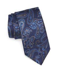 Brioni   Blue Paisley Silk Tie for Men   Lyst