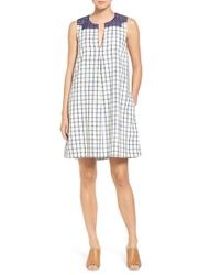 Madewell - Blue Embroidered Shirtdress - Lyst