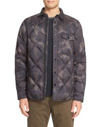 Rag & Bone - Gray 'mallory' Quilted Shirt Jacket for Men - Lyst