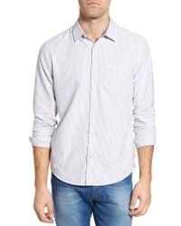 Original Penguin | Multicolor Vintage Brushed Pinstripe Trim Fit Sport Shirt for Men | Lyst
