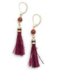 kate spade new york - Purple 'swing Time' Small Tassel Earrings - Lyst