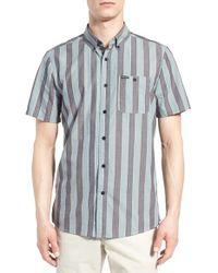 Volcom | Multicolor 'carson' Trim Fit Stripe Woven Shirt for Men | Lyst