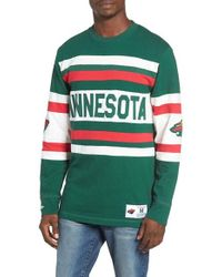Mitchell & Ness - Green Minnesota Open Net Pullover for Men - Lyst