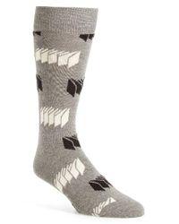 Happy Socks | Gray Optic Print Socks for Men | Lyst
