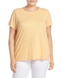 Eileen Fisher - Multicolor Slubbed Organic Cotton Jersey Top - Lyst