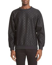 Moschino | Black Debossed Sweatshirt for Men | Lyst
