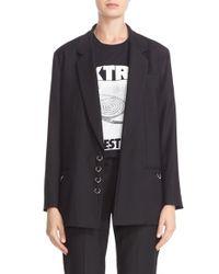 Ashley Williams Black 'piercing' Wool Blazer