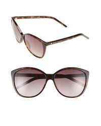Marc Jacobs   Brown 58mm Polarized Butterfly Sunglasses - Dark Havana   Lyst