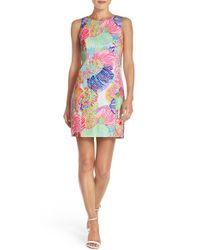 Lilly Pulitzer - Multicolor Lilly Pulitzer 'mila' Print Cotton Sheath Dress - Lyst