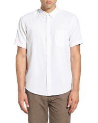 Ezekiel | White 'highland' Regular Fit Short Sleeve Woven Shirt for Men | Lyst
