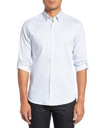 Ted Baker | White 'timbrook' Trim Fit Medallion Print Sport Shirt for Men | Lyst