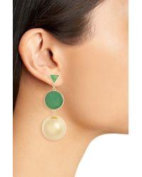 Kate Spade Green Modern Icon Double Drop Earrings