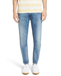 Nudie Jeans Blue 'thin Finn' Skinny Fit Jeans for men