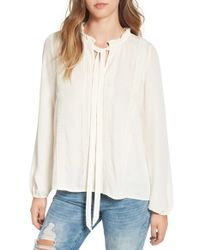 Madison & Berkeley White Victorian Ruffle Blouse