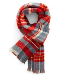 Psycho Bunny - Blue Reversible Wool & Cashmere Scarf for Men - Lyst