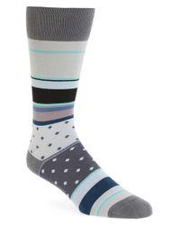 Paul Smith | Gray Stripe Socks for Men | Lyst