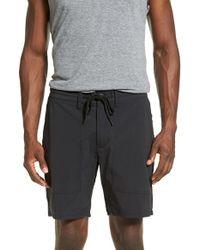RVCA Black Utility Drawstring Shorts for men