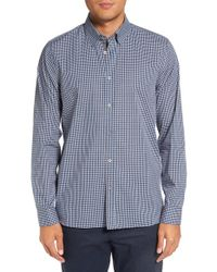 Ted Baker | Blue 'barcell' Trim Fit Check Cotton Sport Shirt for Men | Lyst